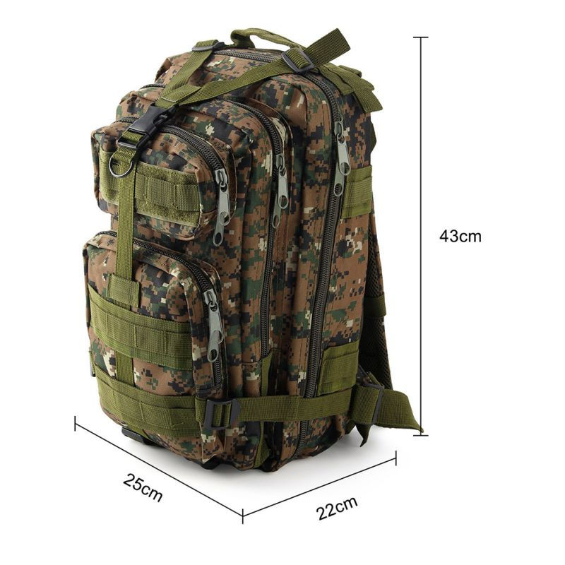 Outdoor Waterproof Tactical Combat Rucksack Backpack Bag Hiking Camping Mil-Tec Military Army Patrol MOLLE Assault Pack
