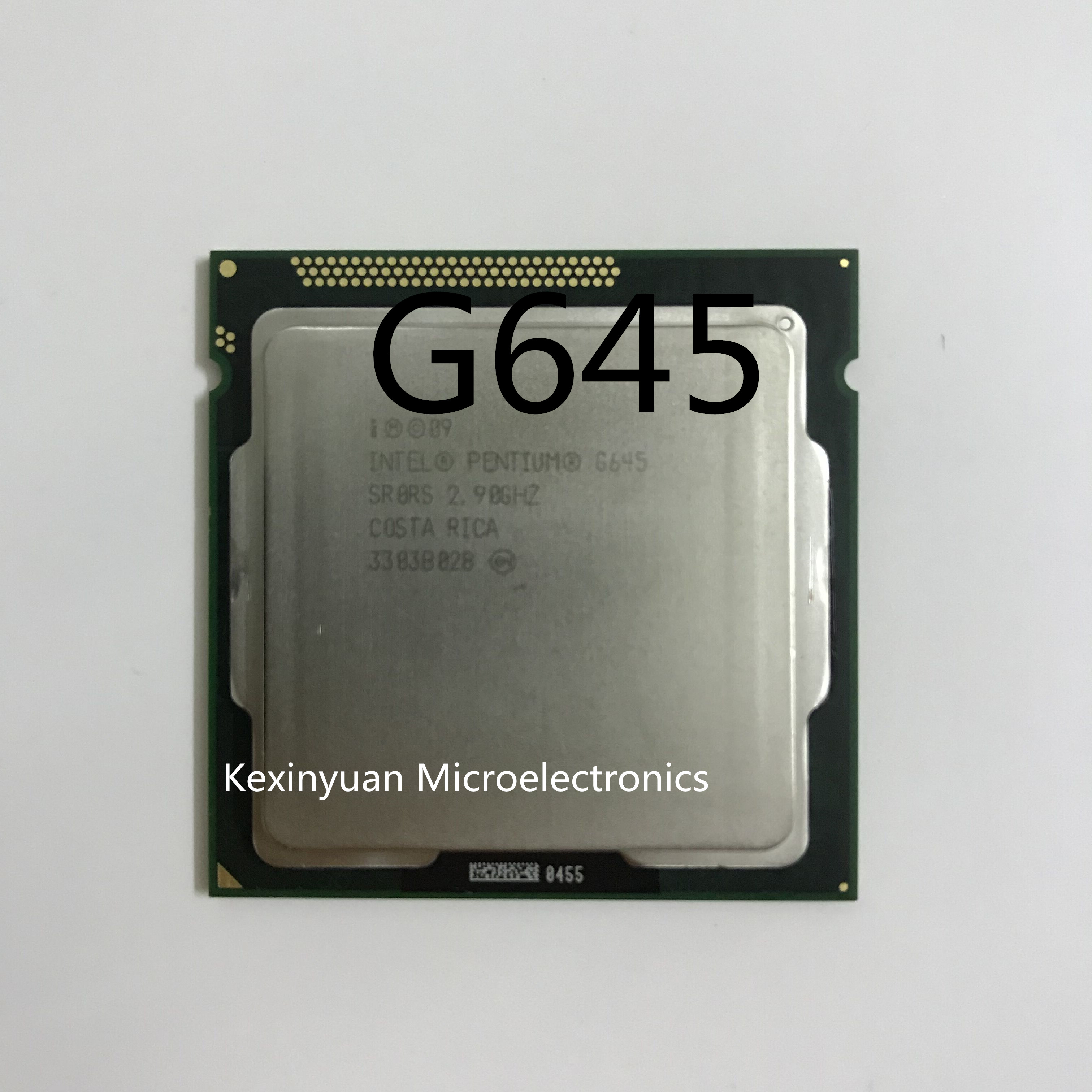 Intel Pentium G645 Dual-Core Processor 3M Cache 2.9GHz LGA 1155 TDP 65W SR0RS Desktop CPU Working 100%