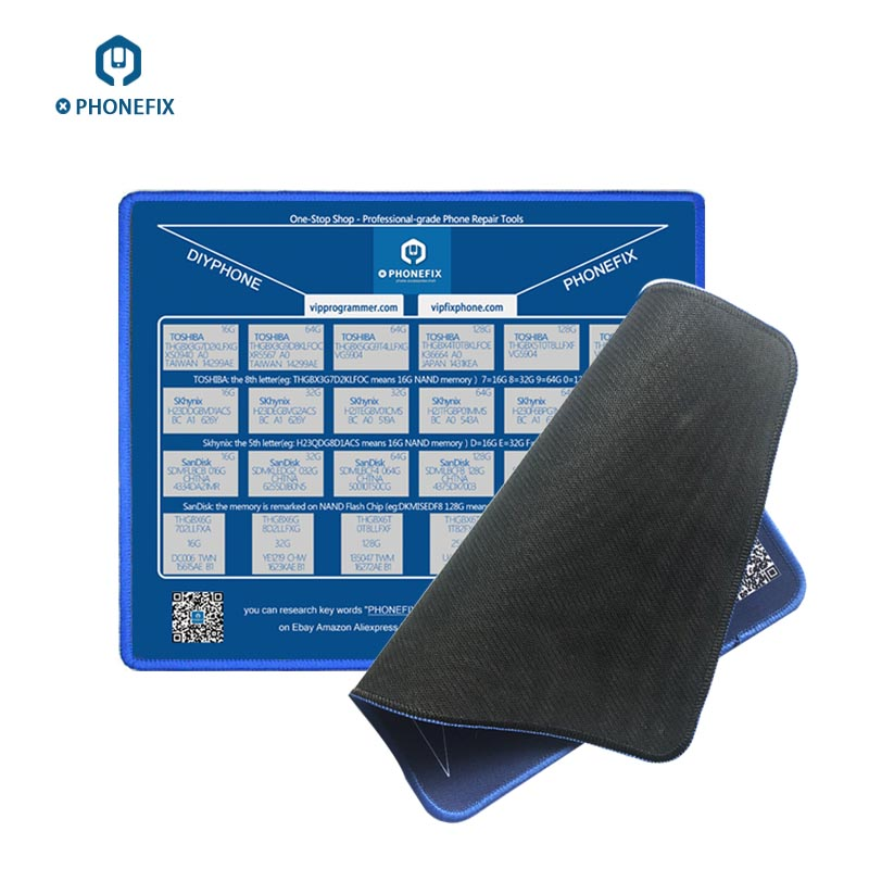 Phone Motherboard Repair Assistant Mouse Mat For IPhone Motherboard NAND Memory Capacity Mouse Pad With NAND Comparison Table