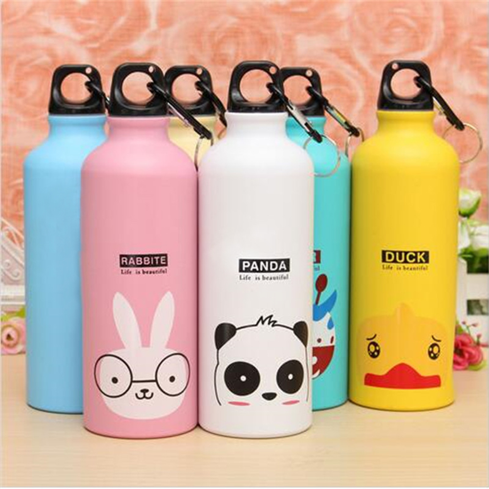 cute water bottles portable sports bicycle water bottle top cycling 30574