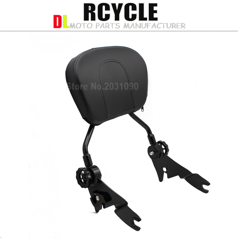 Automobiles & Motorcycles Flight Tracker Black Adjustable Sissy Bar Passenger Backrest W/pad For Harley Touring Models Street Road Glide Cvo Roas King Flhr Flhx Flht 09 Making Things Convenient For Customers