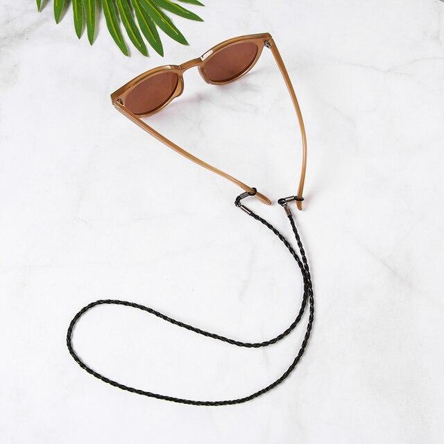 1PC chaud coloré en cuir lunettes cou sangle chaîne corde bande en cuir lunettes cordon réglable fin lunettes support de haute qualité
