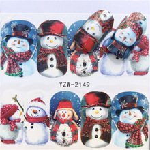 New, Winter Figures Santa Claus Elk Snowman Nail Applique, Sticker. Hot Selling Style YZW-2148
