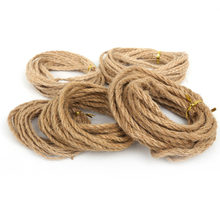 5 meter 2/4/6mm Natural Hemp Jute Cord Rope String For Jewelry Craft Making Gift Packing Hang Tag String Handmade Accessory DIY(China)
