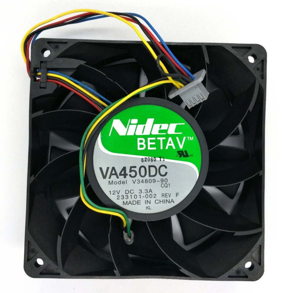 Original Nidec VA450DC V34809-90 12CM 12V 3.3A violence mining machine Computer Server cooling fan original for nidec ta550dc a34885 90 14070 12v 5 0a server cooling fans