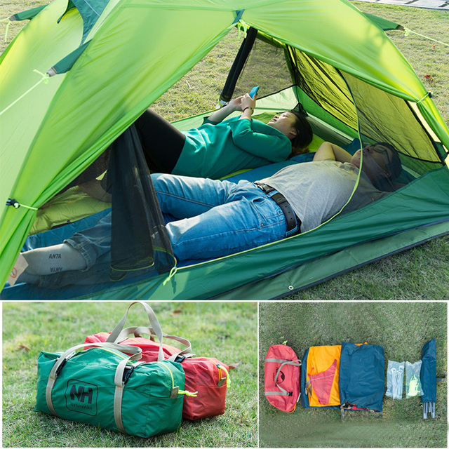 Naturehike Lightweight Camping Tent 2 Person Portable Rainproof Double Layer Outdoor 2 Colors Camp Durable Gear Picnic Tent