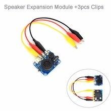 Mở Rộng loa Module với Alligator Clip đối với Arduino BBC micro: bit microbit Bắt Đầu Kit Âm Nhạc Máy Nghe Nhạc Trẻ Em Giáo Dục FZ3231