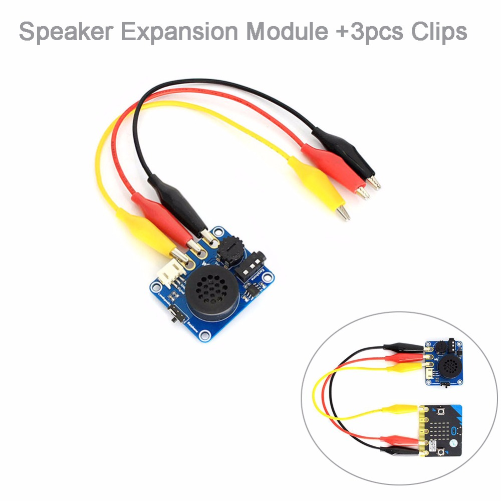 Speaker Expansion Module With Alligator Clips For Arduino BBC Micro:bit  Microbit Start Kit Music Player Kids Education FZ3231