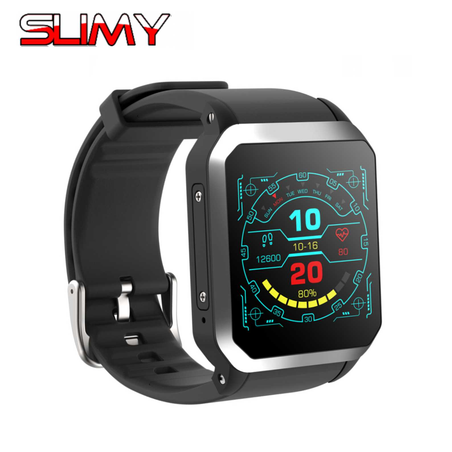 Slimy 3G Wifi Smart Watch Android 5.1 8G Wrist Phone GPS SIM Card Heart Rate Monitor Smartwatch with IP68 Waterproof Camera 3g smart watch phone sim card bluetooth android 5 1 smartwatch heart rate monitor with camera wifi wcdmn gps tracker pk d5 x3