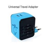 Uniwersalny Międzynarodowy AU USA WIELKA BRYTANIA UE Travel Adapter Wtyczki Przełącznika konwerter Adapter Gniazda Zasilania Inteligentna Ładowarka USB Ściany Wszystko W jeden