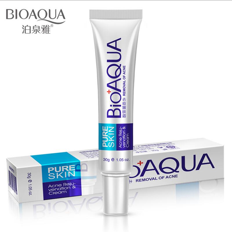 BIOAQUA 10Ppcs Anti Acne Treatment Cream Oil Control Shrink Pores Nourish Acne Scar Remove Face Cream Essentials Skin Care image