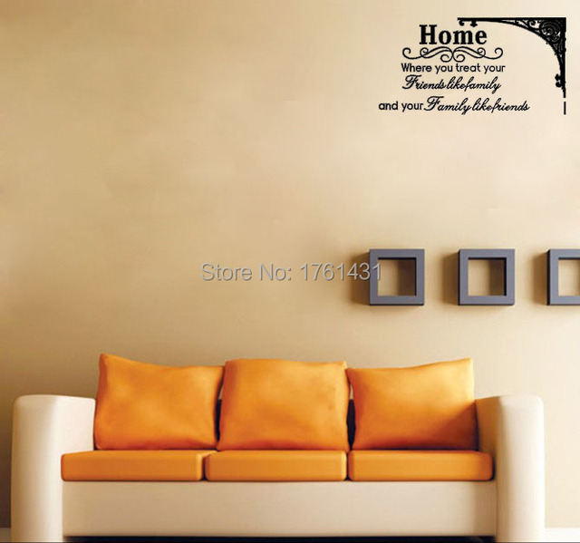 Home Family Friends Removable wall stickers home decor wall art ...
