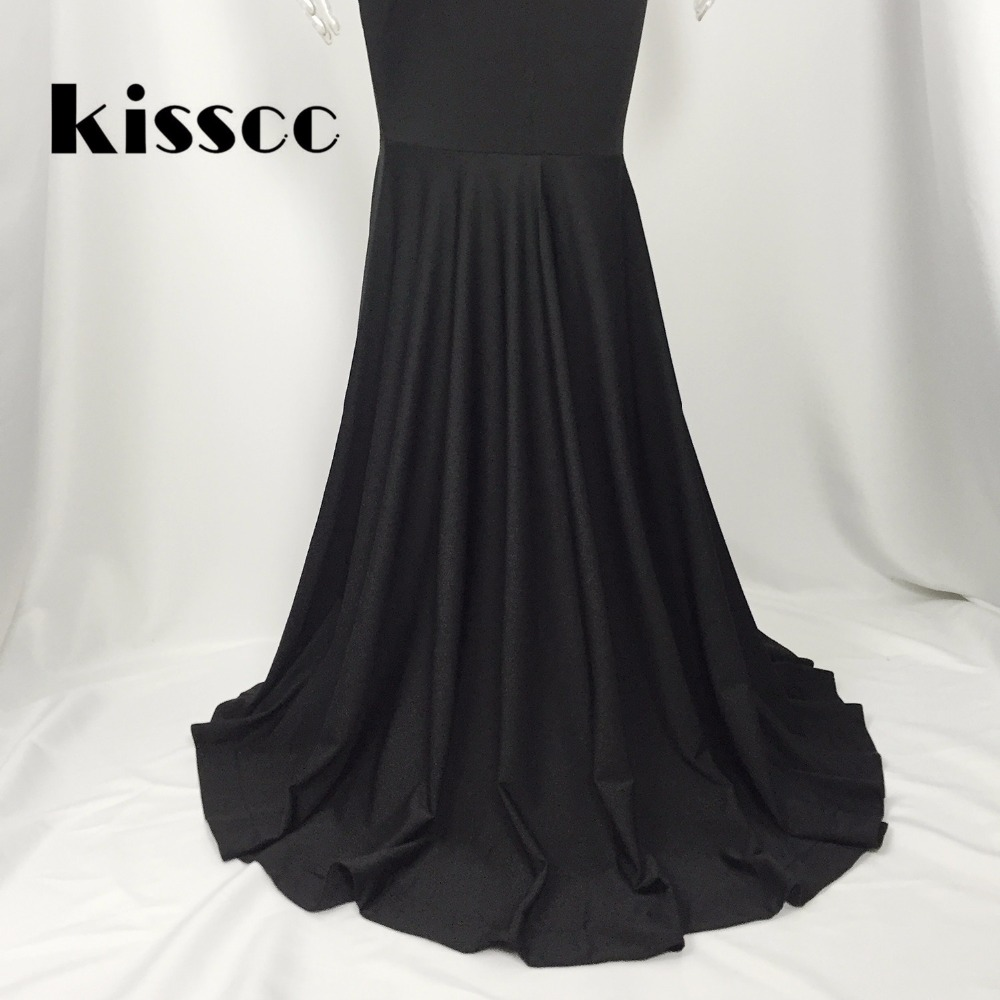 KISSCC Strapless Floor Length Dress Gown Sexy Backless Black Maxi ...