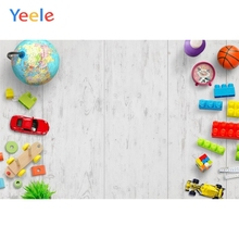 Yeele White Wood Board Toy Brick Photography Backdrop Baby Kids Birthday Party Custom Photographic Background For Photo Studio
