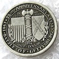 USA 1936 Battle of Gettysburg Anniversary Half Dollar Copy Coins Silver Plated
