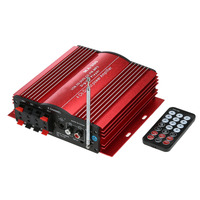 4 Channel Home Car Audio Amplifier Auto 4CH HiFi Audio Power Amplifier USB SD MMC MP3