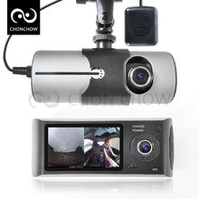 "Cámara Del Coche DVR X3000 Dashcam Doal R300 con 2.7 ""GPS Del Coche Dvr Del Vehículo Cámara Grabadora de Vídeo Dash Cam Dashboard Grabadora Portátil"