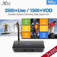 1 год интерактивное телевидение iudtv подписки X92 ТВ Box С UK шведский подписки 3g 32G Android коробка арабский турецкий интерактивное телевидение iudtv п