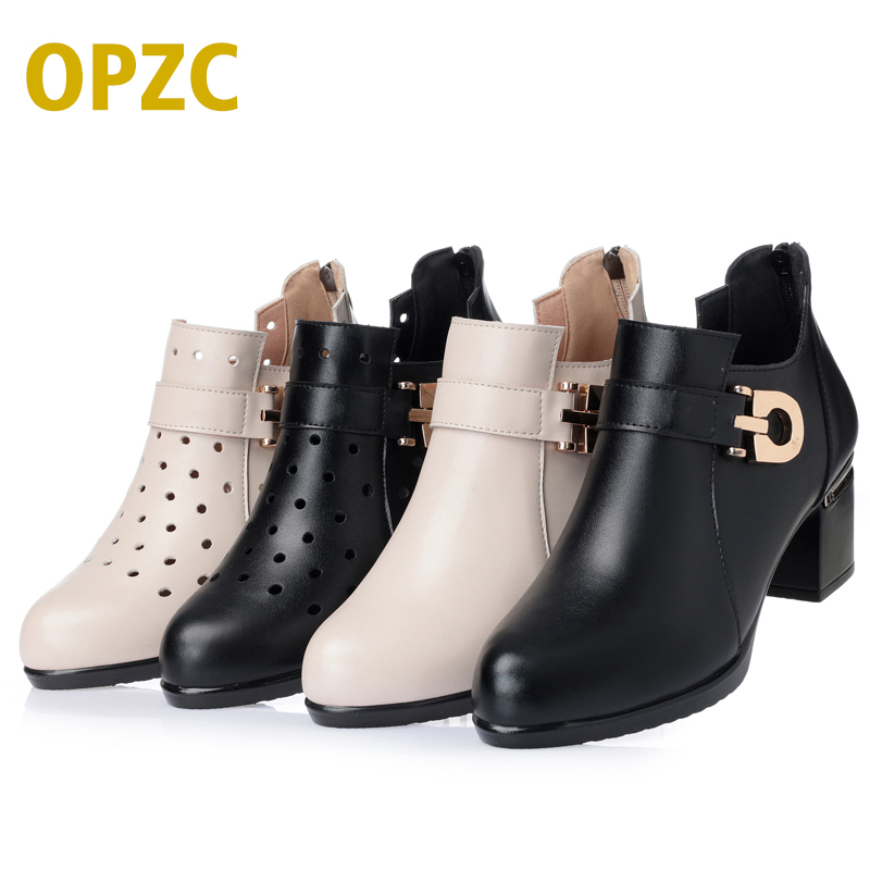 Plus size 35-43 # Spring women's shoes ,2018, new genuine leather women shoes, fashion Hole shoes casual Single shoes women aiyuqi spring new genuine leather women shoes rhinestone breathable plus size 41 42 43 comfortable light mother shoes women