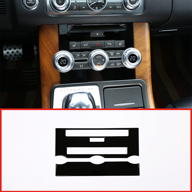 Center Console CD Panel Cover For Land Rover Range Rover Sport 2010-2013 Silver