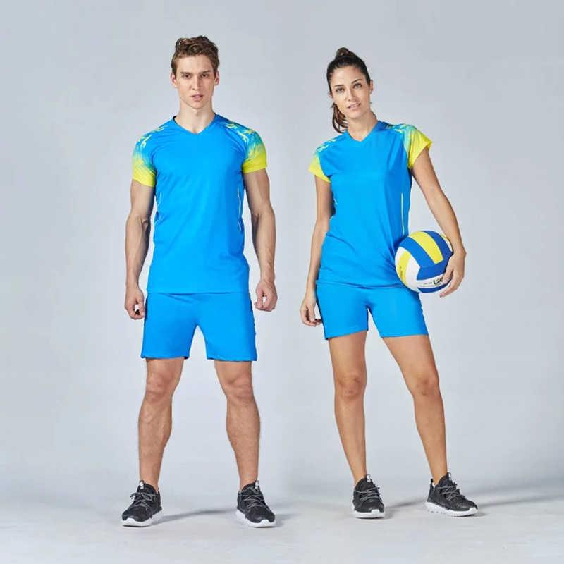 กีฬาผู้ชายผู้หญิงวอลเลย์บอล Jerseys กีฬาวอลเลย์บอลชุดสูทชายกีฬาเสื้อยืดรูปแบบสำหรับวอลเลย์บอลชุดสำหรับสตรี