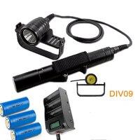Brinyte DIV09 светодиодный фонарик для дайвинга CREE XML2 1000lm светодиодный подводный Электрический фонарик для дайвинга 200 М Подводная лампа + батаре