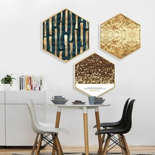 Simple restaurant wall painting Living room decorative Sofa background Bedroom triptych rhythm