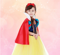 Halloween 95 140cm Kid Child Snow White Princess Cosplay Carnival Suit Party Costume Dress Headwear Girl