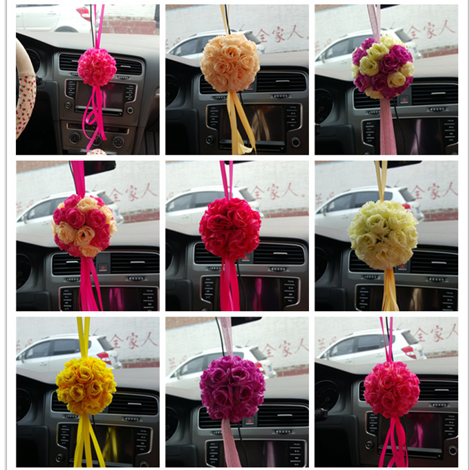 Available 8 Colors Artificial Silk Flower Rose Balls Wedding ...