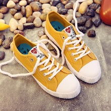 Fashion Lace Up Women Canvas Shoes Solid Casual Women
