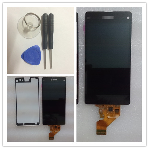 Tools Sticker Free shipping For Sony Xperia Z1 Mini D5503 Z1 Compact M51W LCD Screen Display