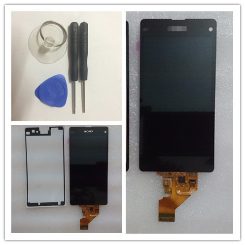 Tools + Sticker Free shipping For Sony Xperia Z1 Mini D5503 Z1 Compact M51W LCD Screen Display With Touch Screen Digitizer