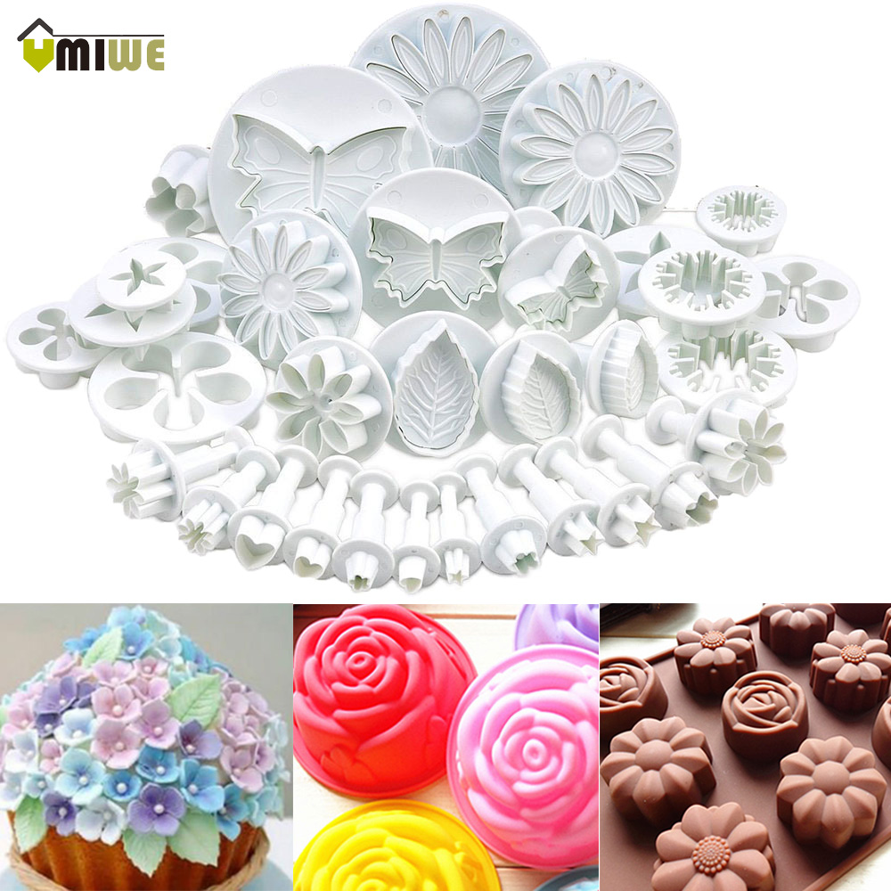 Umiwe 33 Pcs Set Food Grade Plastik Cetakan Kue Jelly Candy