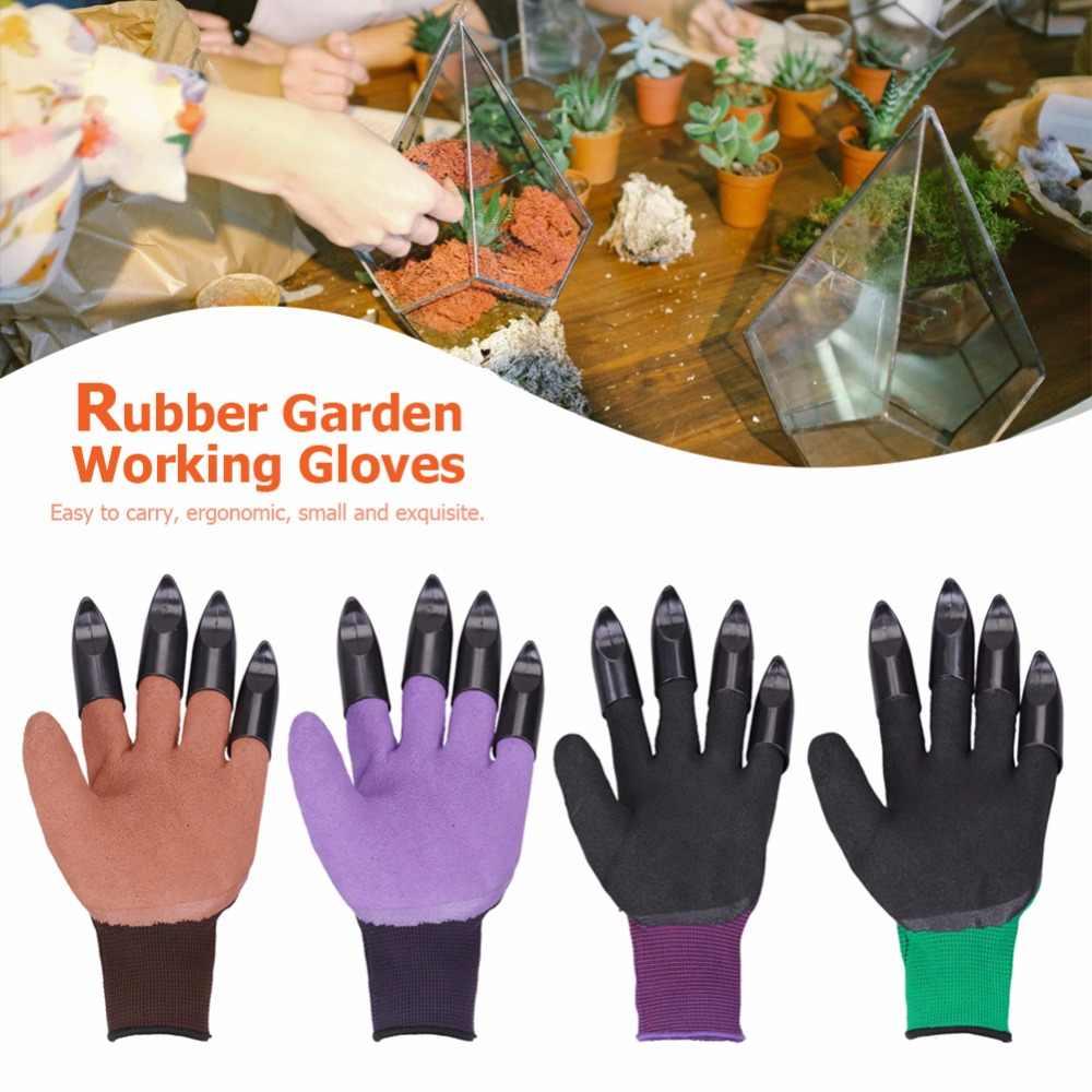 สวนสวนถุงมือปลายนิ้วกรงเล็บ Genie ถุงมือ Raking ขุดปลูก Latex ทำงานเครื่องมือในครัวเรือนเรือนกระจกผลิตภัณฑ์