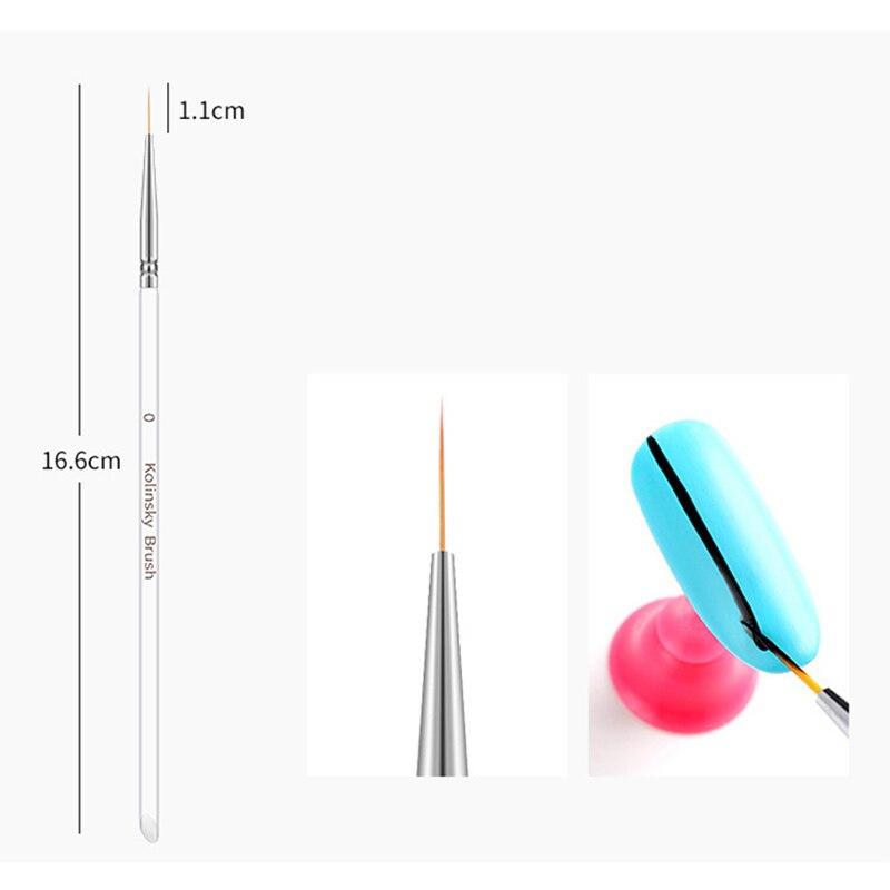 Колонковые кисти для дизайна ногтей