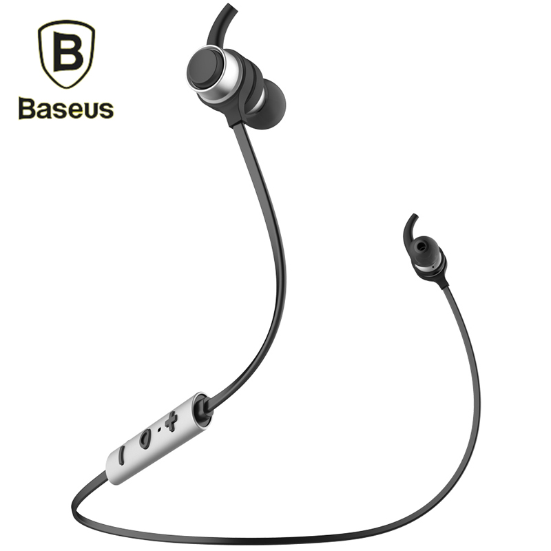 Baseus B16 Wireless Bluetooth Earphone Headphone For iPhone 7 6 6s Samsung Hifi Stereo Casque With Microphone Fone De Ouvido bluetooth earphone headphone for iphone samsung xiaomi fone de ouvido qkz qg8 bluetooth headset sport wireless hifi music stereo