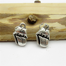 90PCS (13*9mm )Antique Silver Mouth Charms pendant fit European bracelet made diy Pendants for jewelry making