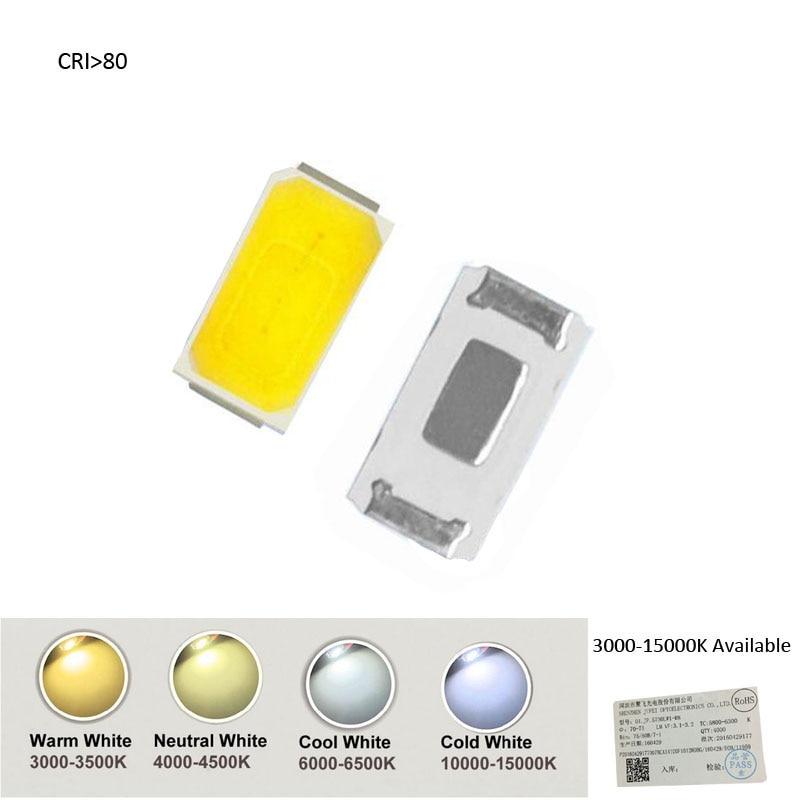 CRI>80 100pcs 5730 0.5W-150Ma 50-75lm 3200K 4000K 5000K 5500K 6000K 15000K Warm White Light SMD 5730  LED 5730 Diodes (3.2~3.4V)