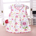 Drop Shipping 100% Cotton Baby One-Piece Dress Newborn Girl Dress Sleeveless Princess Dresses Infant Vest Clothes 594
