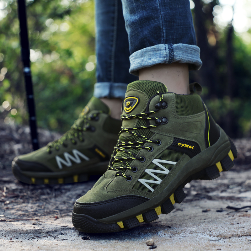 Man Hiking Shoes Autumn Winter Mens Treking Sneakers Army Green Brown Hunting Boots Comfortable Climbing Sneakers For Men