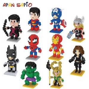 Building Blocks Toys Mini Size Cartoon Character Model Educational Bricks Toys for Children