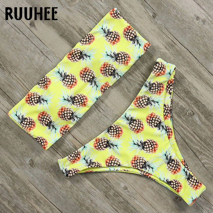RUUHEE <font><b>Sexy</b></font> <font><b>Bikini</b></font> <font><b>Swimwear</b></font> <font><b>Women</b></font> Bandage <font><b>Swimsuit</b></font> <font><b>2018</b></font> <font><b>Brazilian</b></font> <font><b>Bikini</b></font> Set Bathing Suit Beachwear Padded Female <font><b>Swimsuit</b></font> image