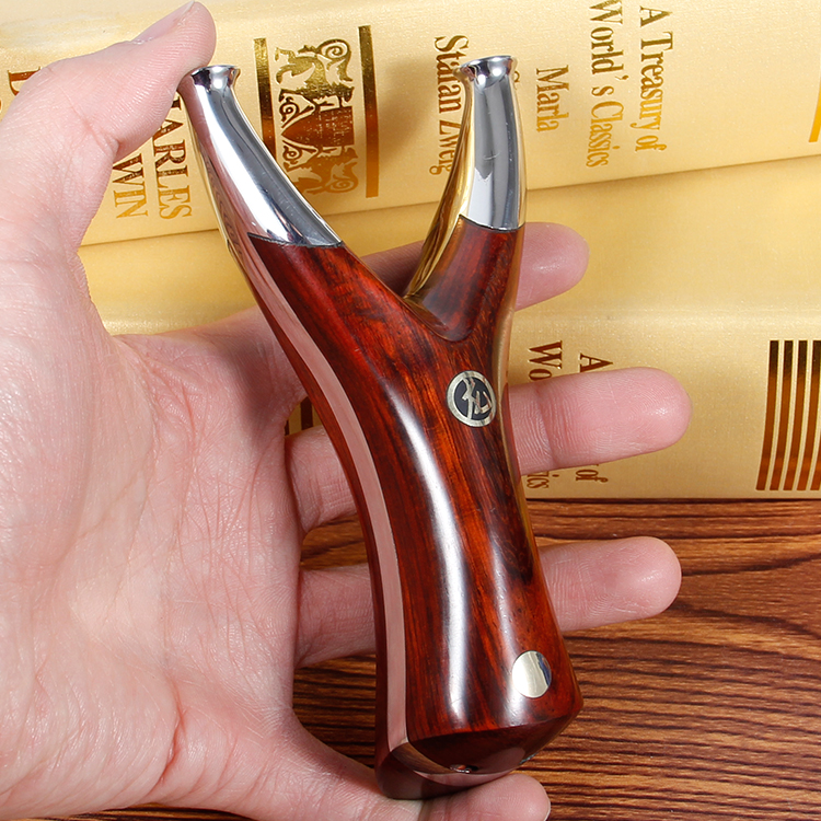 440 Stainless Steel Dragonscale Solid wood Slingshot Flat rubber band Bow Recurve Accurate Outdoor hunting catapult