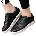 Nueva Casual aumento de la Altura Transpirable Zapatos de Las Mujeres Correa de Lona Sólido Cut-outs Mujeres Ocio Sneaker Zapato Blanco Zapatos Baratos