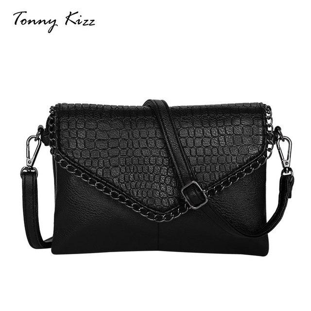 d2480b044289 US $13.48 23% OFF Tonny Kizz crossbody messenger bags for women envelope  with alligator prints crossbody bag PU leather female shoulder bag  clutch-in ...