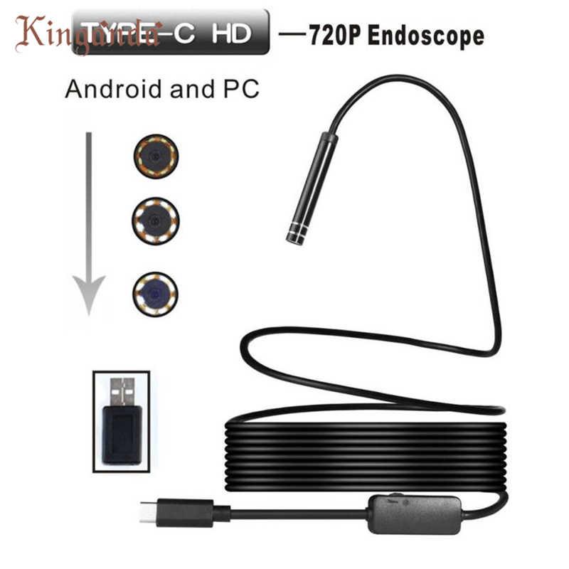 Веб-камера 5 м Android USB Type-C эндоскопа инспекционной 5.5 мм Камера 8 светодиодный IP67 Водонепроницаемый Камара веб-drop доставка 17aug10