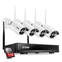 ZOSI 4CH 1080P HDMI WiFi NVR 1.3 мп ИК Открытый Всепогодный P2P Беспроводная IP CCTV Камеры Безопасности Системы Видеонаблюдения Kit