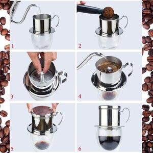 Image 5 - Фильтр для кофе ROKENE, из нержавеющей стали, вьетнамский набор фильтров для кофе, лучшая капельница для дома/кухни/офиса/улицы