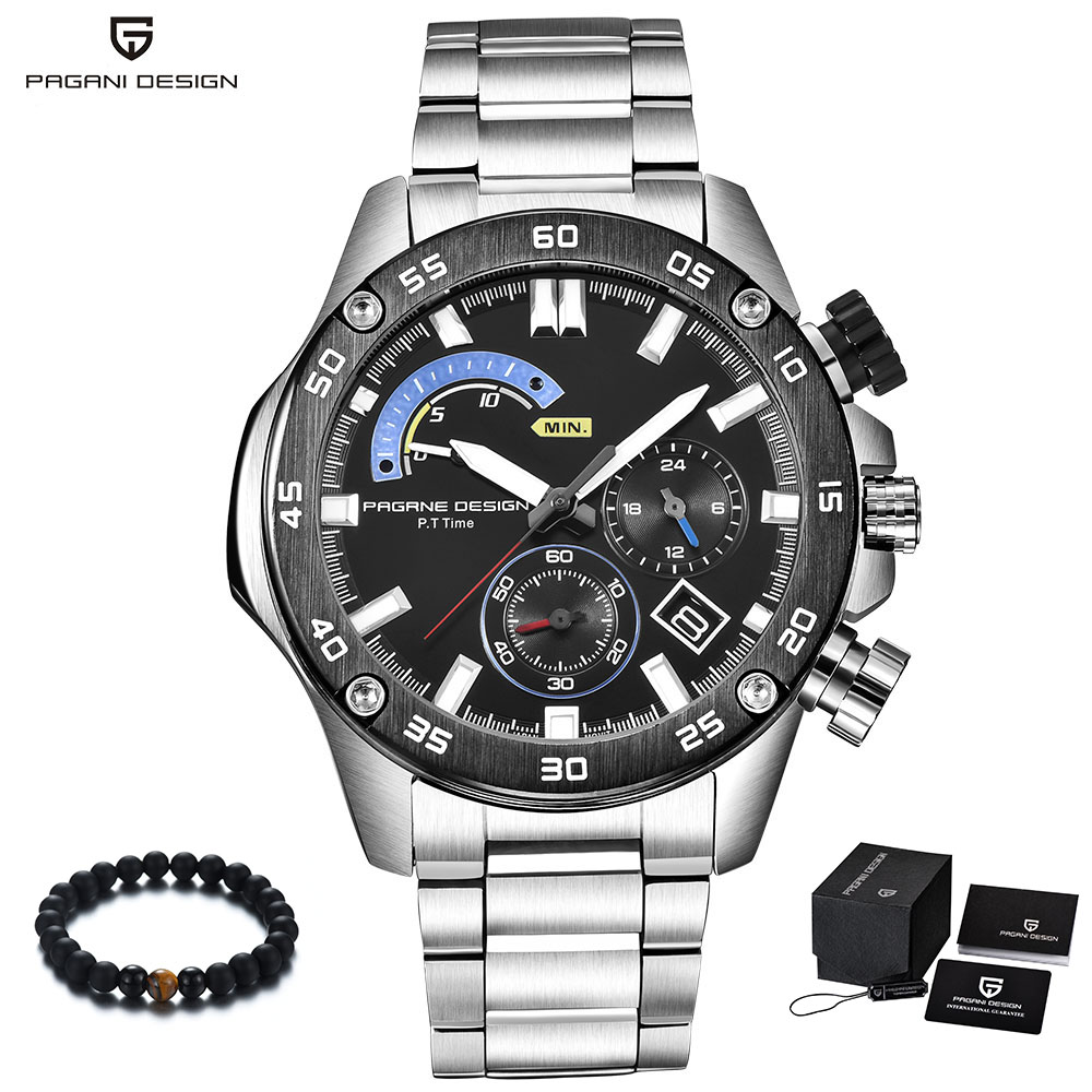 PAGANI Design Brand Luxury Mens Watches Quartz Stainless Steel Waterproof Watch Men Military Sport Wrist Watch reloj hombre 2018 цена