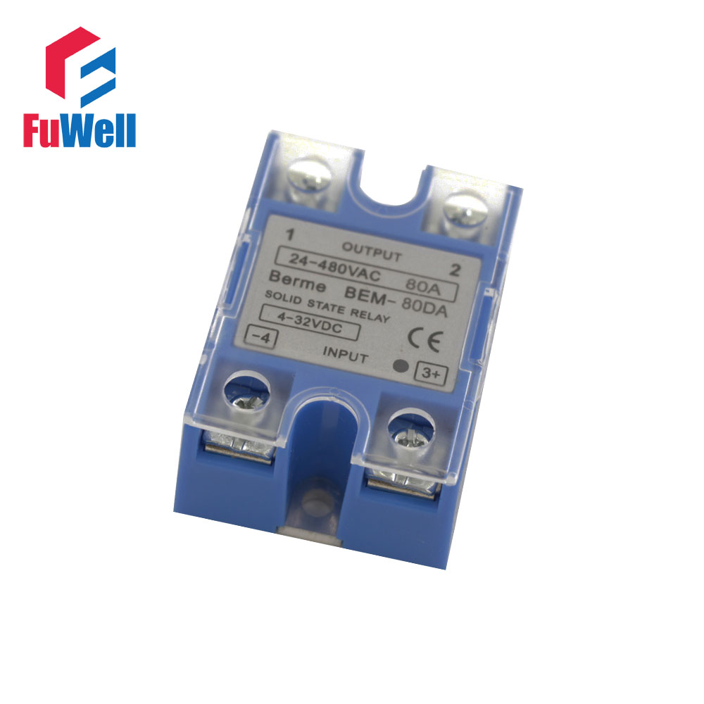 High Quality  Singe Phrase 80A SSR Solid State Relay BEM-80DA/BEM-80AA Blue james milton a good turn of phrase phrasal verbs